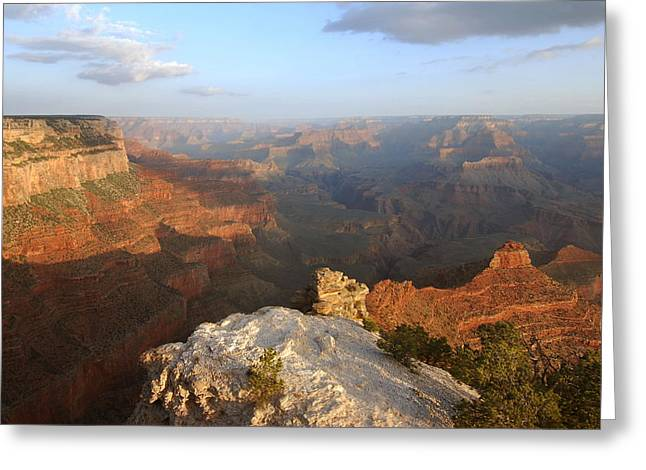 Yavapai Point Morning Greeting Card by Stephen  Vecchiotti