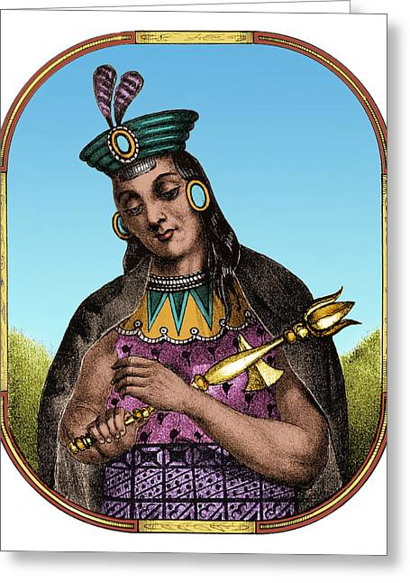Yawar Waqaq, Sapa Inca, Kingdom Of Cuzco Greeting Card by Science Source