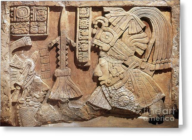 Yaxun Balam Iv, Mayan King, 755 Ad Greeting Card by Science Source