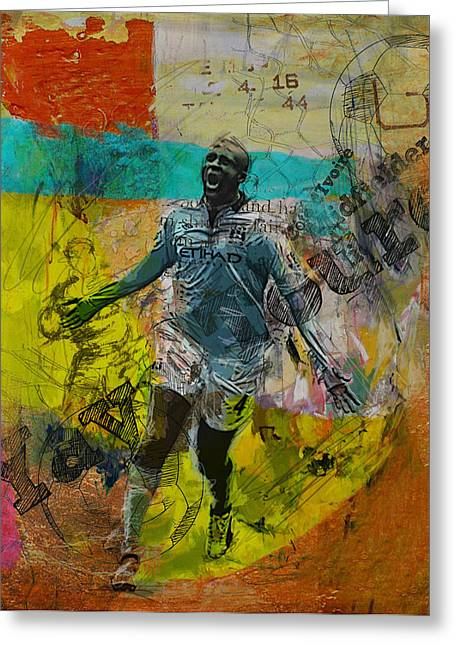 Yaya Toure - B Greeting Card by Corporate Art Task Force