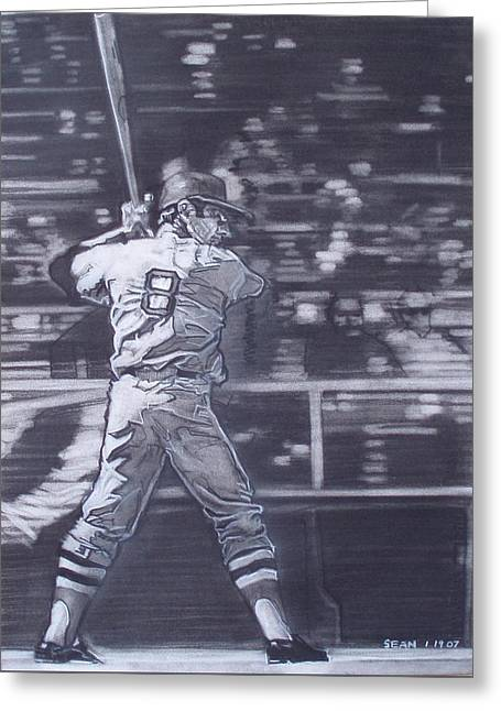 Yaz - Carl Yastrzemski Greeting Card by Sean Connolly