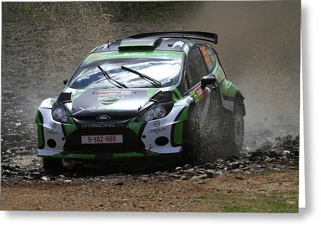 Yazeed Al Rajhi Fia World Rally Championship Australia 2013 Greeting Card