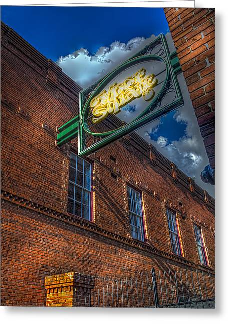 Ybor Square Greeting Card by Marvin Spates