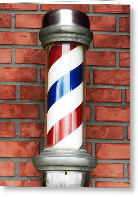 Ye Modern Barber's Pole Greeting Card