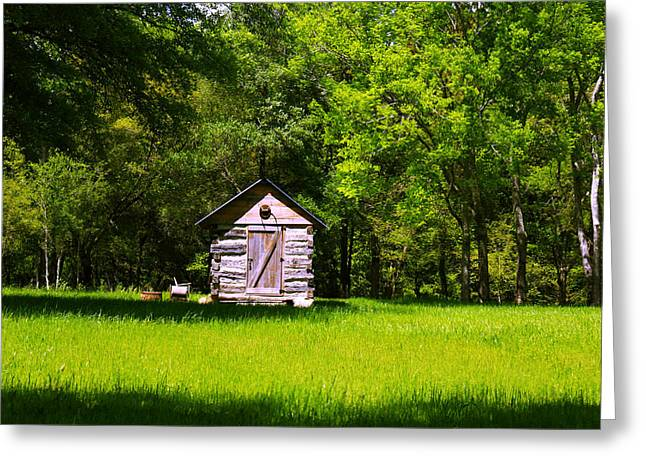 Greeting Card featuring the photograph Ye Old Cabin by Andy Lawless