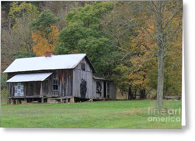 Ye Old Cabin In The Fall Greeting Card
