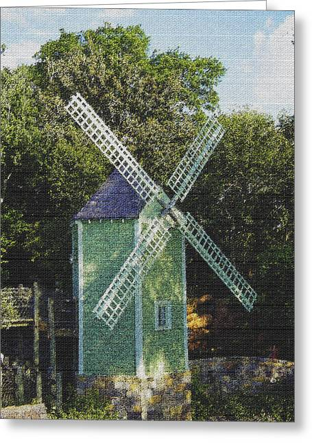 Ye Old Mill Greeting Card by Laurie Perry