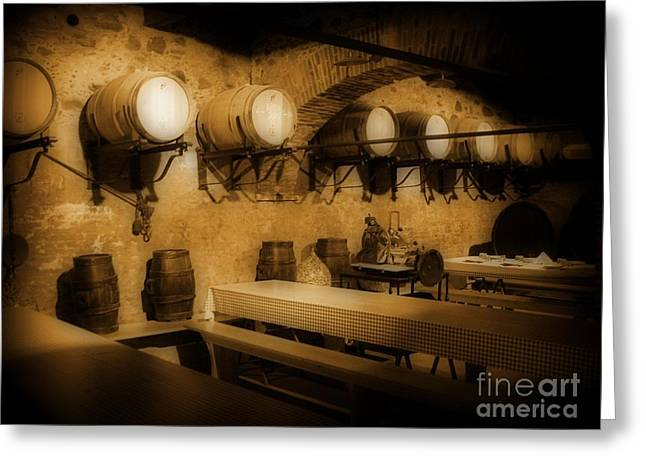 Ye Old Wine Cellar In Tuscany Greeting Card by John Malone