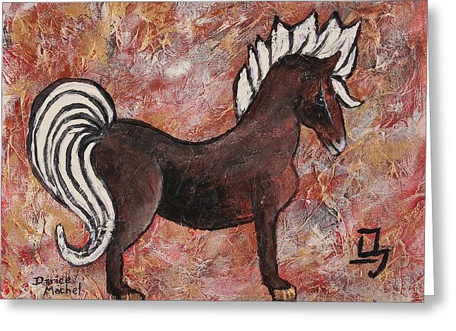 Year Of The Horse Greeting Card by Darice Machel McGuire