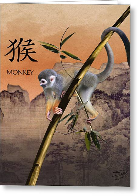 Year Of The Monkey Greeting Card