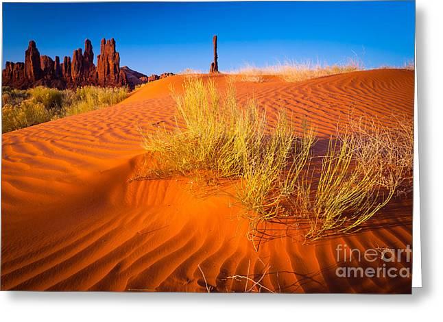 Yei-bi-chai Rocks And Dunes Greeting Card by Inge Johnsson
