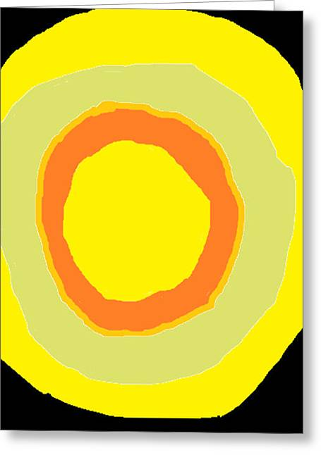 Greeting Card featuring the painting Yellow by Anita Dale Livaditis