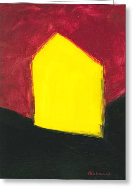 Yellow Arthouse Greeting Card
