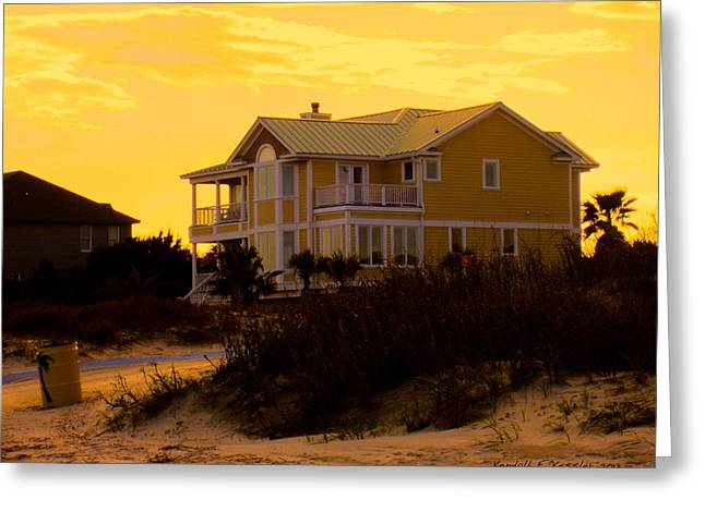 Yellow Beauty At Isle Of Palms Greeting Card by Kendall Kessler