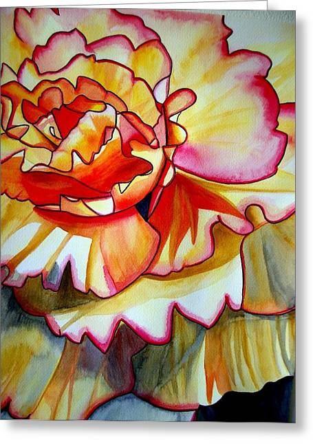 Yellow Begonia Greeting Card by Sacha Grossel