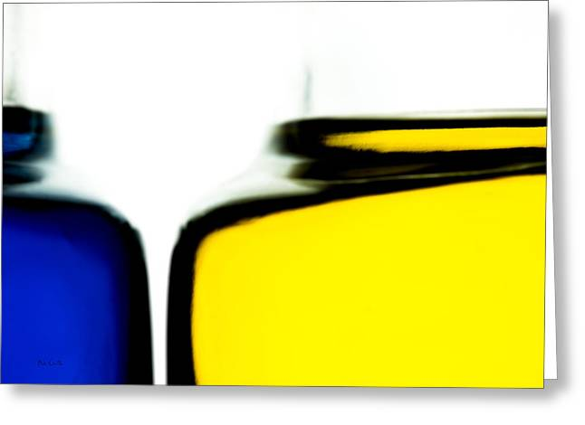 Yellow Blue Greeting Card by Bob Orsillo