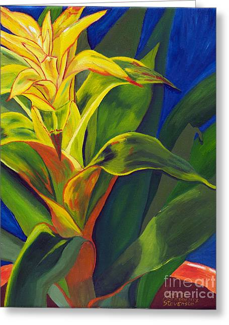 Yellow Bromeliad Greeting Card