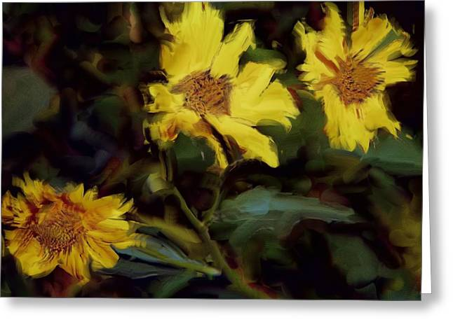 Yellow Greeting Card by Charles Muhle
