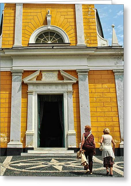 Greeting Card featuring the photograph Yellow Church by Allen Beatty