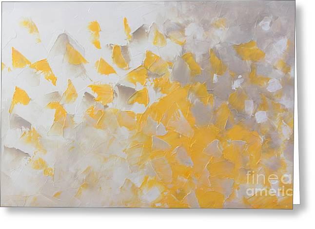 Yellow Cloud Greeting Card