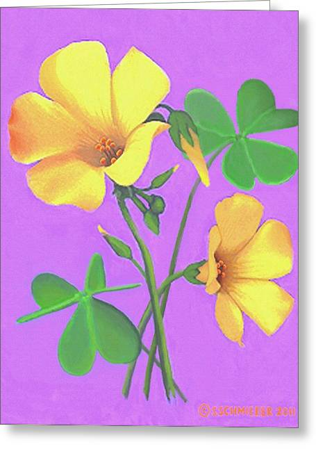 Yellow Clover Flowers Greeting Card