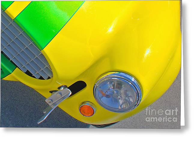 Yellow Cobra Greeting Card by Hot Rod Pics