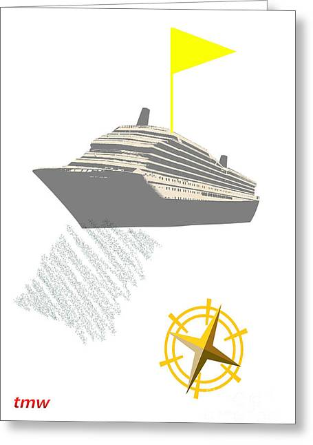Yellow Cruise Greeting Card