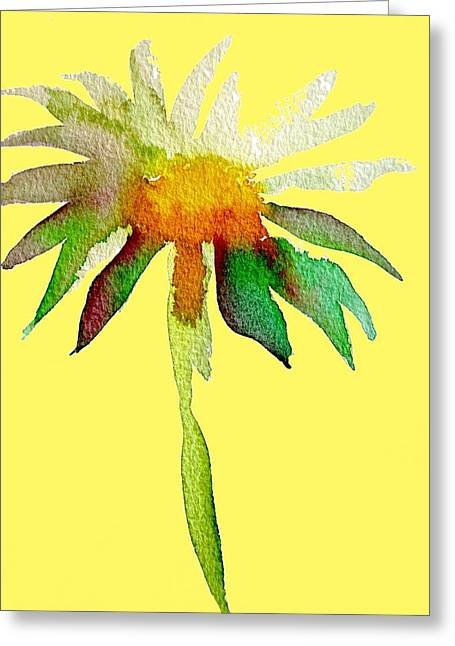 Yellow Daisy Greeting Card by Sacha Grossel