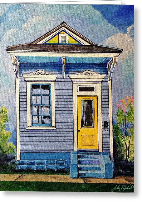 Yellow Door Shotgun  Greeting Card