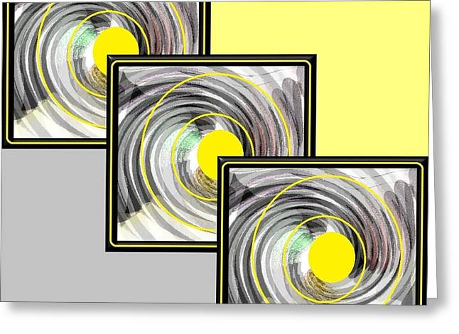 Yellow Dot Greeting Card by Ann Calvo