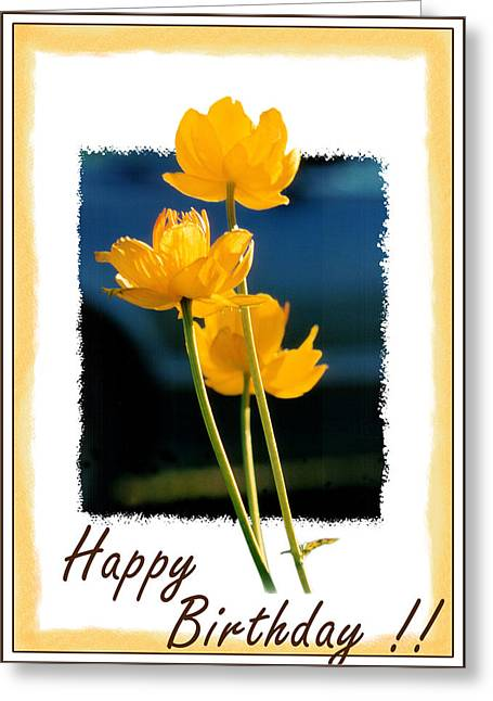 Yellow Flower 1 Greeting Card