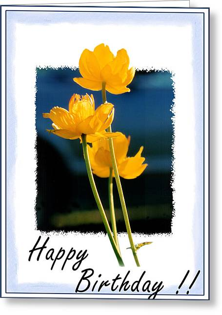 Yellow Flower 2 Greeting Card