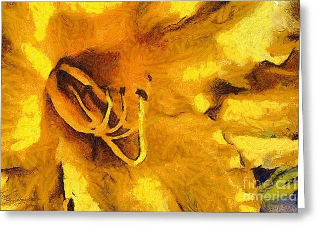 Yellow Flower 2 Greeting Card
