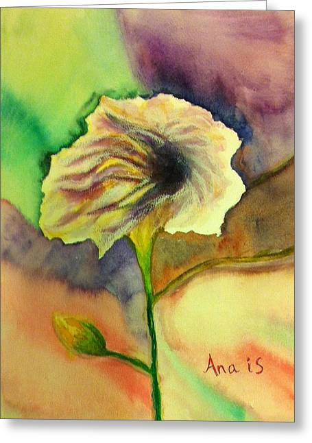 Yellow Flower Greeting Card by Anais DelaVega
