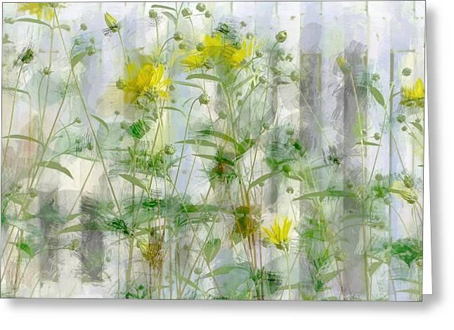 Yellow Flower Garden Greeting Card
