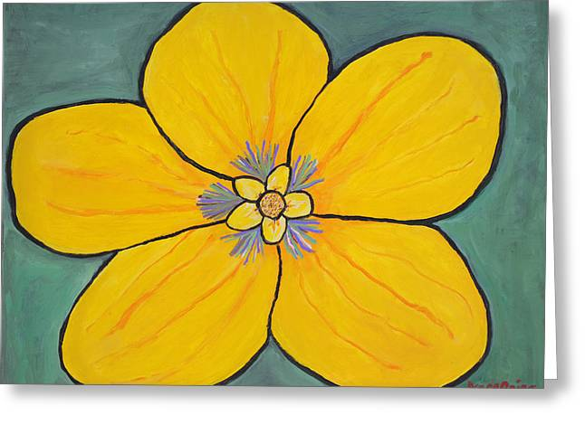 Yellow Flower Greeting Card by Jose Rojas
