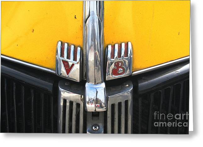 Yellow Ford Truck Greeting Card by Kathlene Pizzoferrato