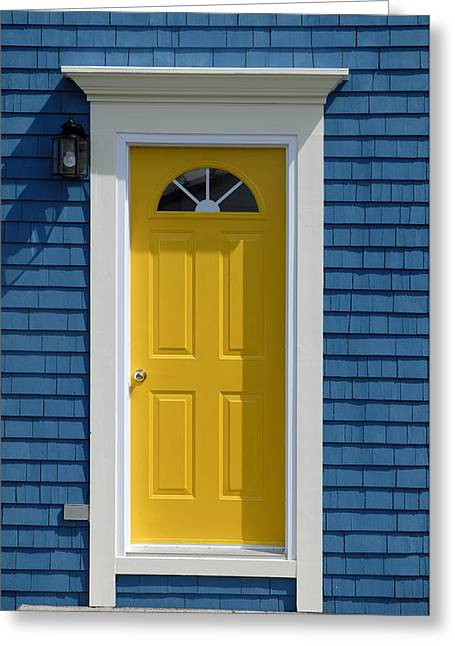 Yellow Front Door Greeting Card by Norman Pogson