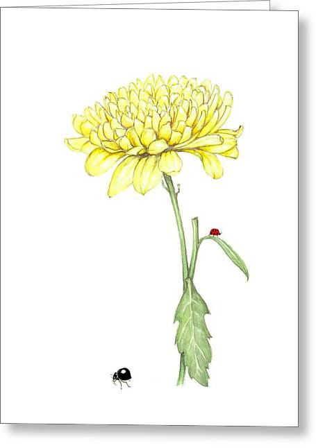 Greeting Card featuring the painting Yellow Fun by Heidi Kriel