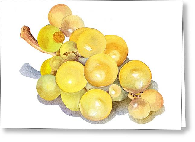 Yellow Grape Greeting Card by Irina Sztukowski