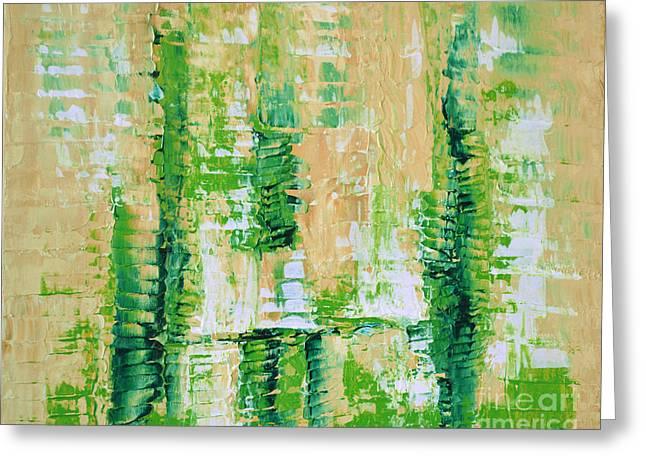 yellow green GROWTH Abstract by Chakramoon Greeting Card by Belinda Capol