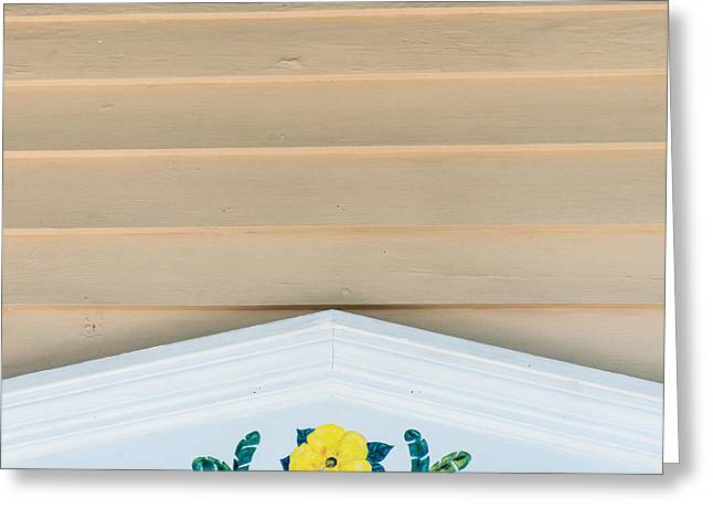 Yellow Hibiscus Wall Detail Key West - Square  Greeting Card by Ian Monk