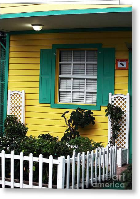 Yellow House Greeting Card by John Rizzuto