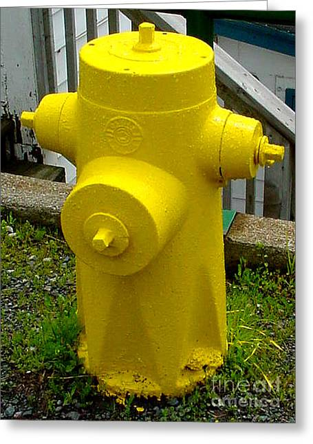 Yellow Hydrant Greeting Card