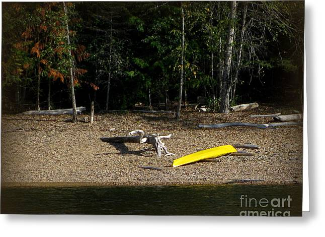 Yellow Kayak Greeting Card