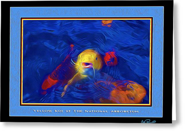 Yellow Koi At The National Arboretum Greeting Card