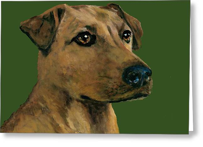 Yellow Lab Mix Greeting Card