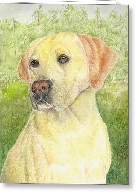 Yellow Labrador Retiever Greeting Card