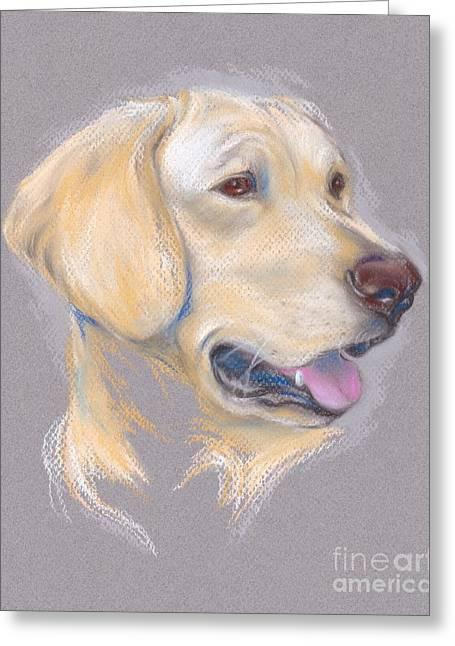 Yellow Labrador Retriever Portrait Greeting Card