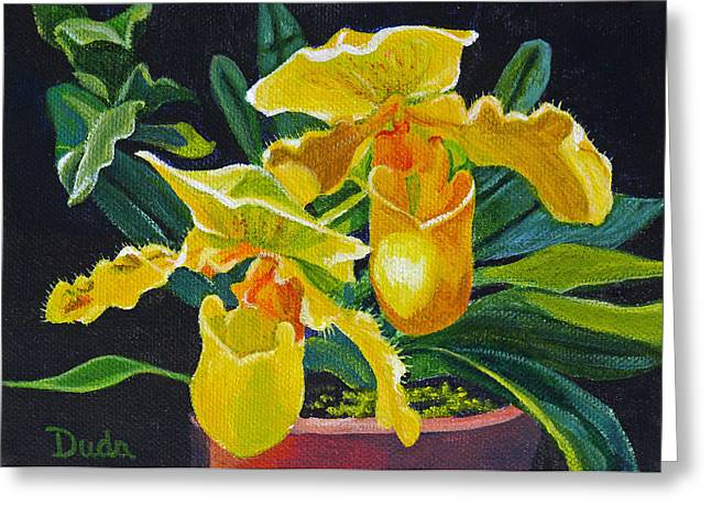 Yellow Lady Slippers Greeting Card